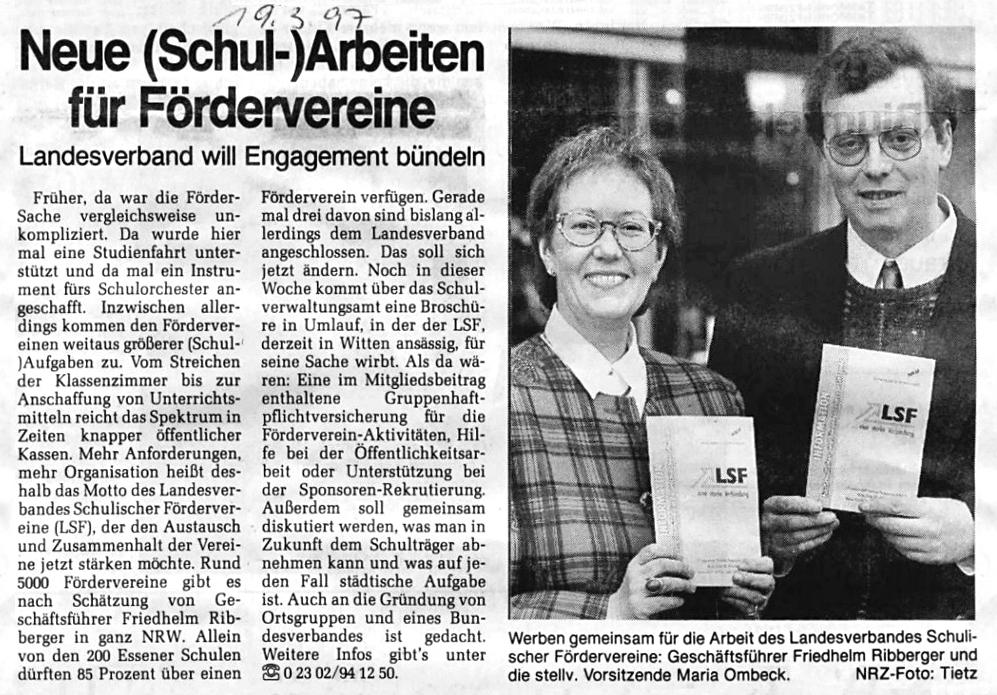 LSF Zeitungsbericht
